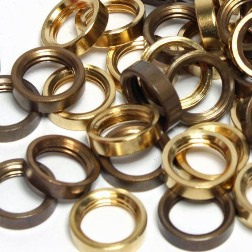 Solid Brass M10 x 1mm Pitch Ring Nuts Pack of 10